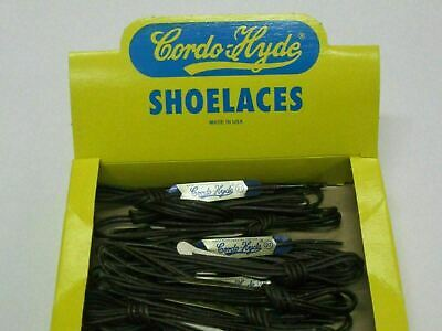(1 Pair) Wax Shoe Laces Thin Round Waxed Cordo Hyde - Made in USA - Dress Shoe