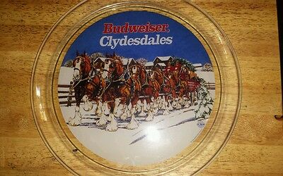 Antique Glass Budweiser Tray or plate