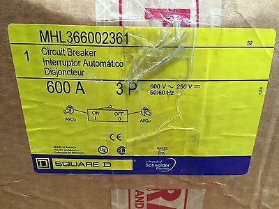 SquareD MHL366002361 MHL36600 Type MHL 3Pole 600Amps 480/600Volts Line/Load Lugs