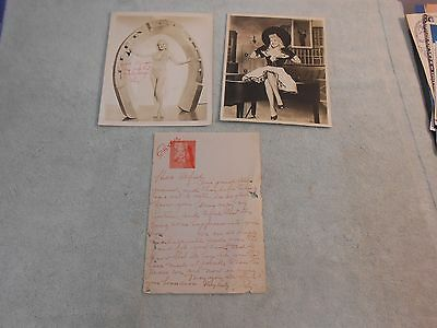 BETTY GRABLE 2 SIGNED PICS-PLUS SIGNED HAND WRITTEN LETTER