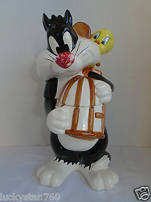 WARNER BROS. LOONEY TUNES 1993 SYLVESTER & TWEETY BIRD COOKIE JAR