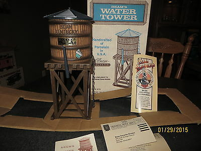 Jim Beam Train Railroad Accessory WATERTOWER Whiskey Decanter with original box