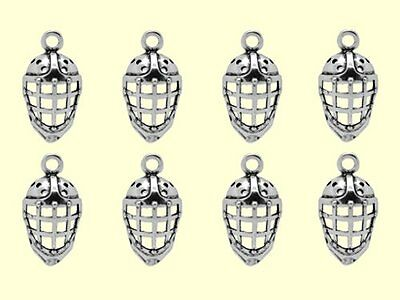 """8 Silvertone 1"""" (26mm) Hockey Mask Charms GREAT PARTY FAVORS"""