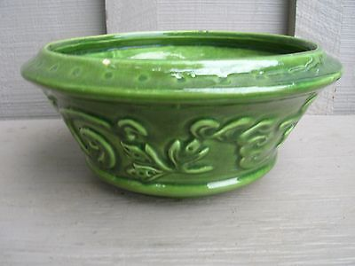 Old Vintage Art Pottery by Haeger Green Planter ~ USA ~ Mid-Century