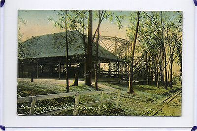ROLLER COASTER,PICNIC PAVILION,OLYMPIA PARK-McKEESPORT,PA