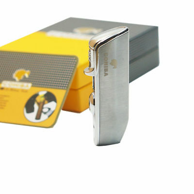 Cohiba Silver 3 Torch Jet Flame Cigar  Lighter With Punch