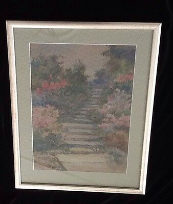 """Original Potter Signed Water Color Framed """"stairway To Heaven"""""""
