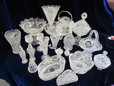 Hofbauer Echt Bleikristall Byrd Crystal Collection 22 Pieces Including Lids!!