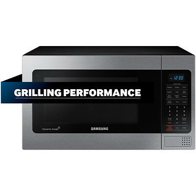 Samsung MG11H2020CT Stainless Microwave 1.1 Cu. Ft. Counter Top w/Grilling NEW