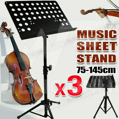 3 X Heavy Duty Large Professional Stage Music Sheet Stand Adjustable Folding Au