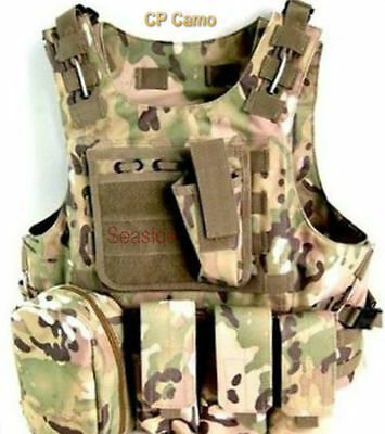 Military SWAT Airsoft Tactical Vest Army Molle Hunting Paintball Carrier