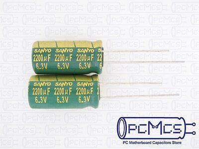 20 x Sanyo WG 6.3V 2200UF Ultra Low ESR for VRM Computer Motherboard Capacitor