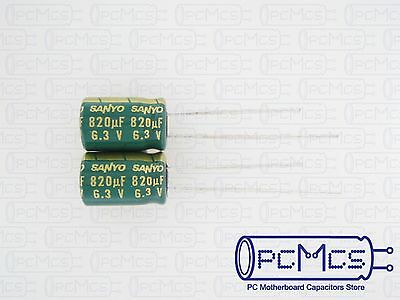 20 Pcs Sanyo WG 6.3V 820UF Ultra Low ESR for VRM Computer Motherboard Capacitor