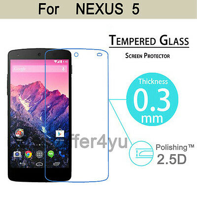 HQ Premium Real Tempered Glass Film Screen Protector For LG NEXUS 5