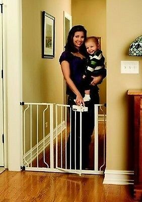 "Regalo Easy Step Walk Thru Gate, White, Fits spaces between 29"" and 39"" Wide"