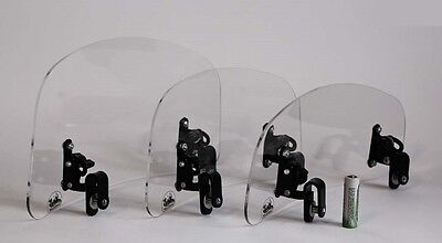 Wind screen deflector clear windshield windscreen MEDIUM motorcycle motorbike