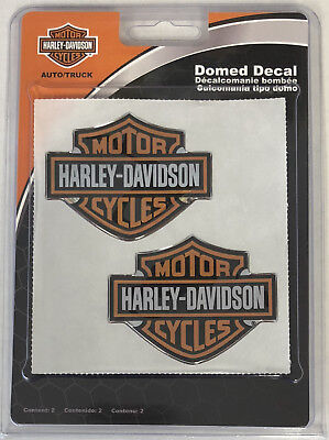 Harley-Davidson Bar & Shield Domed 2 Emblems Sticker Decal NEW