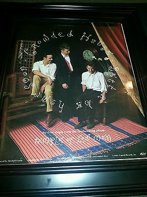 Crowded House Temple Of Low Men Rare Promo Poster Ad Framed!