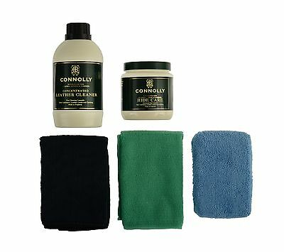 Connolly Premium Leather Care Bonus Microfiber Kit Clean and Restore Auto
