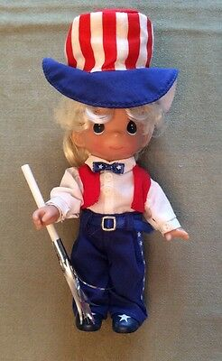 Precious Moments Collectible Freedom 4th Of July Independence Day Girl Doll Mint