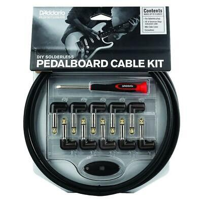 NEW! Planet Waves DIY Solderless Pedalboard Cable Kit - Makes 5 Cables!