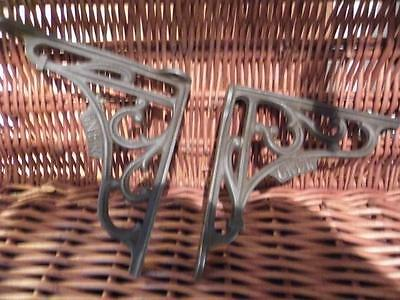 """Classic Pair Of Quality Victorian Style Cast Iron Wall Shelf Brackets """"gner"""""""
