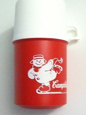 CAMPBELLS SOUP THERMOS WITH SKATING SNOWMAN