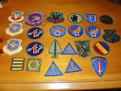 US MILITARY PATCH 23 LOT WWII KOREAN WAR VIETNAM ARMY NAVY AIR FORCE