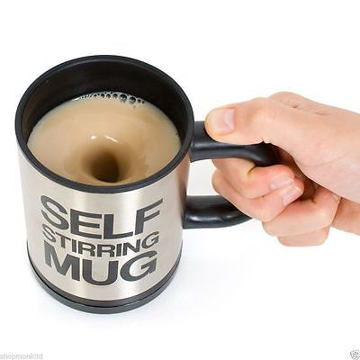Lazy Auto Self Stiring Mug Coffee Tea Mixing Cup Work Office Novelty Gift New