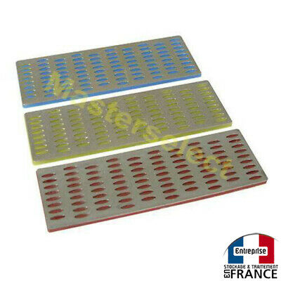 3 X RAPE LIME DIAMANTS CARTE D'AFFUTAGE DIFFERENTS GRAINS METAUX 50x150mm