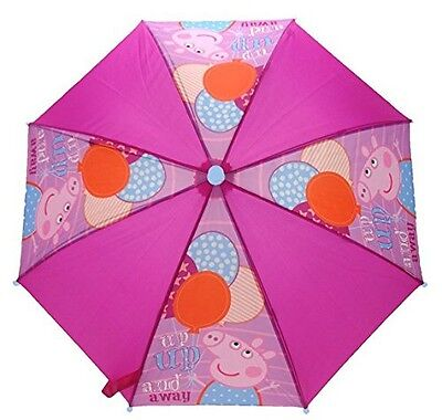 Peppa Pig 'Up Up And Away' School Rain Brolly Umbrella Brand New Gift