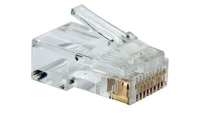 10X Clavija Conector De Red Rj45 Con 8 Hilos Ethernet Pc Router Internet 10 Pcs