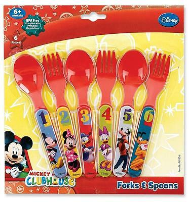 Mickey Mouse FEET Clubhouse Fork Spoon Flatware Dinnerware NEW FreeShip