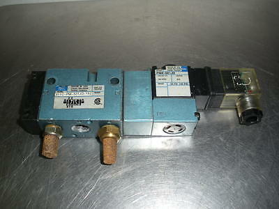 Mac 811C-PM-501JD-152 pneumatic valve 24 vdc or vac solenoid 2 available 1/4NPT