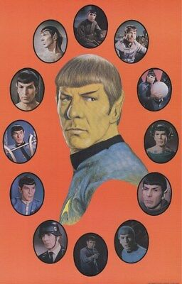 STAR TREK ~ TOS SPOCK CIRCLES 22x34 TV POSTER Original Series Leonard Nimoy Mr