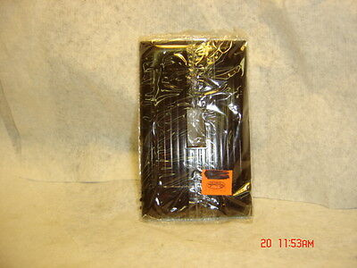 Nos 1 Gang Brown 1 Switch Electrical Plate Bakelight Ribbed Eagle And Sierra