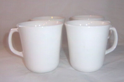 Set of 4 Vintage Corning/Corelle Winter Frost White Coffee or Tea Cups VERY NICE