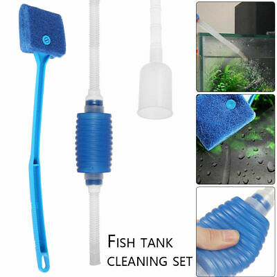 Sp036 & Tr074 Aquarium Cleaning Kit Fish Tank Algae Scrub Gravel Cleaner Siphon