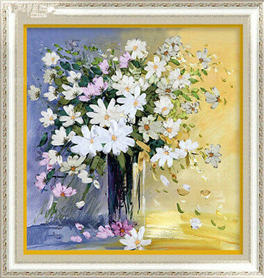 3D DIY Ribbon Embroidery Kit Luxury Romantic Happiness Flower 48*50cm Gift New