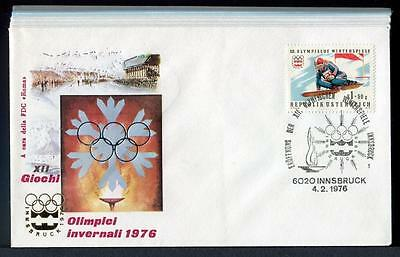 24525) AUSTRIA 1976 FDCx13 Winter Olympic Games Innsbruck all with special pstmk
