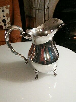 """Silverplated 9"""" Fisher """"Jack Shephard"""" K212 Water Pitcher engraved """"PS Number 5"""""""