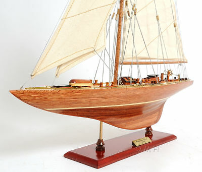 "Endeavour America's Cup J Class Yacht Wood Model 24"" Boat Sailboat"