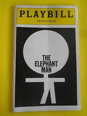 June 1980 - The Booth Theatre Playbill w/Ticket - The Elephant Man - Donnelly