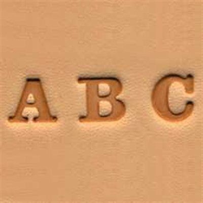 """Craftool Easy-To-Do Stamp Set Alphabet 0.6 cm (1/4"""") Tandy Leather 4903-01"""