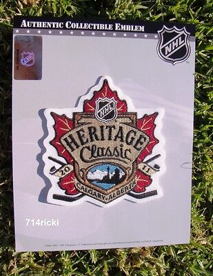 Official NHL 2011 Heritage Classic Patch Calgary Flames vs Montreal Canadiens