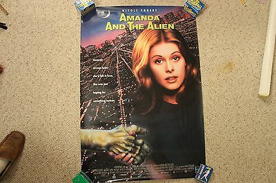 Cool Rare Vintage Old Original Amanda and the Alien Movie Poster 1995 Space