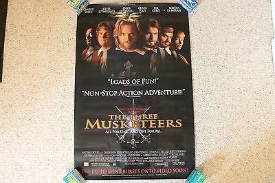 Rare Vintage Old Original The Three Musketeers Movie Poster Sheen Sutherland