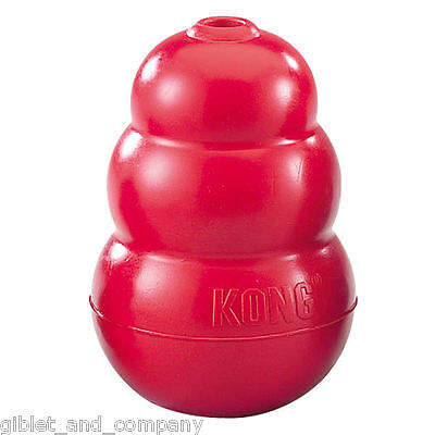 CLASSIC KONG DOG TOY - Rubber Interactive Treat Dispensing Tough Durable Dog Toy
