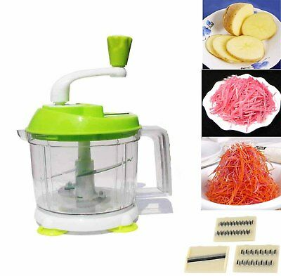 MANUAL FOOD PROCESSOR Hand Operated Vegetable Chopper ...