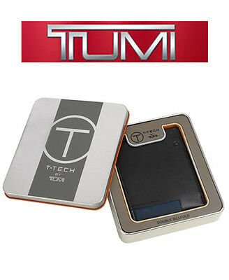 Tumi T-Tech Merge Global Coin Leather Wallet, Black, 100% Authentic  MSRP $60